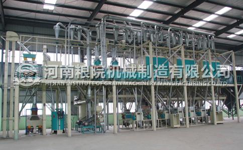 山东青岛客户200吨玉米加工设备机组安装完成