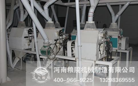 兰考客户100吨级面粉加工成套设备安装现场