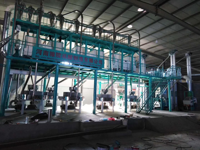 河南商丘客户石磨面粉机安装调试成功已投产运营