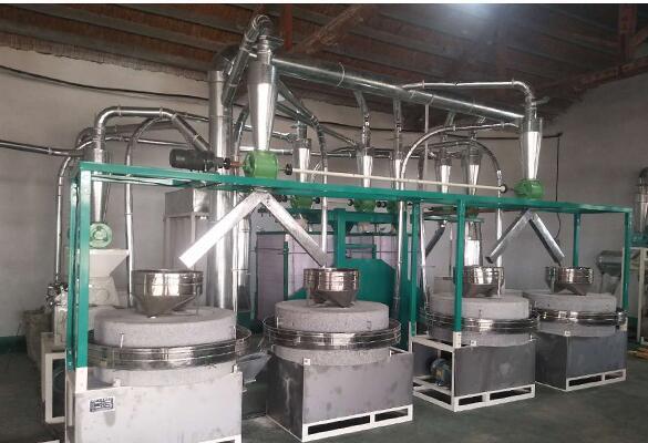 山西四组石磨面粉设备安装调试成功